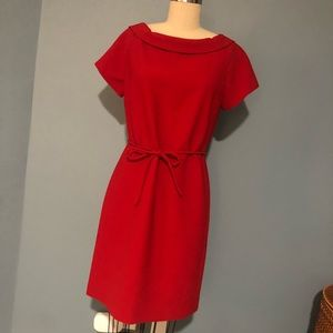 Tory Burch Red Wool Shift Dress